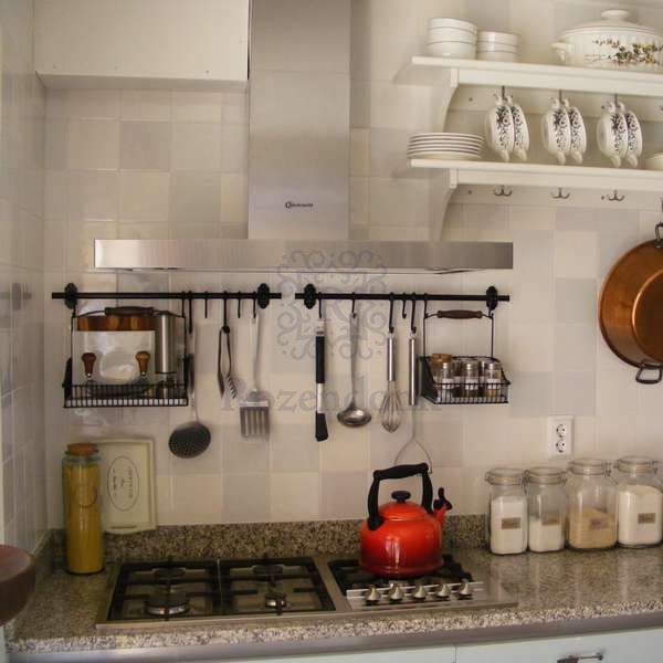 various kitchen with different mixes of white tiles
