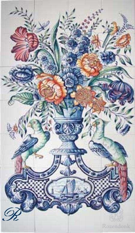RF28-4, vase with 2 birds