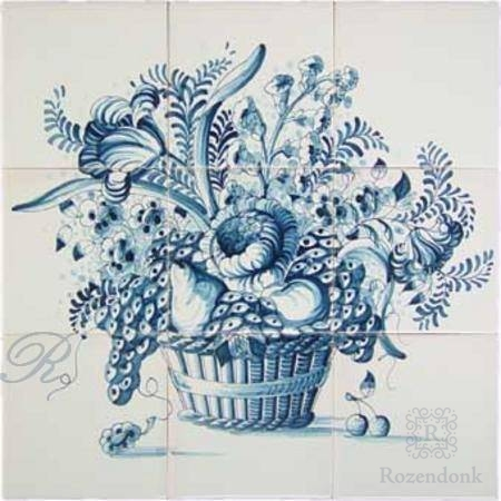 RF9-11 basket with flowers