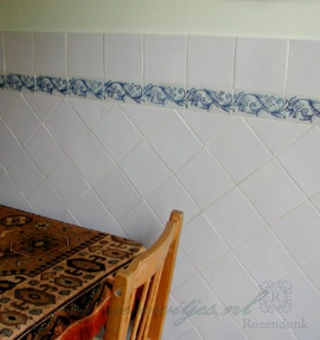 Traditional flowers on tiles