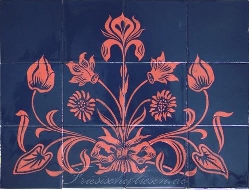 RH20-20 Art deco floral motif