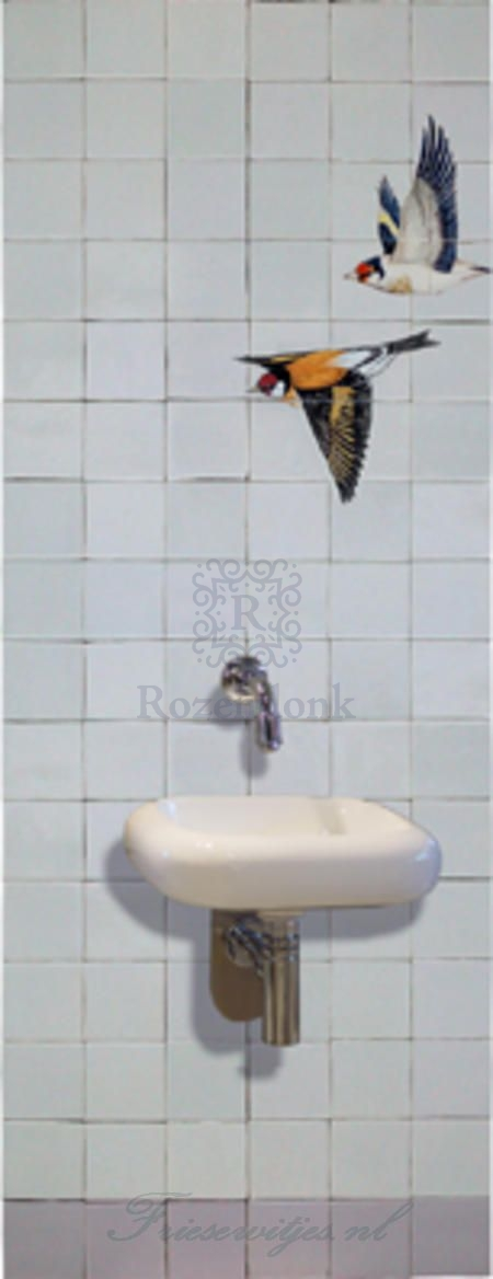 RH4-2c, Flying finch on 4 tiles