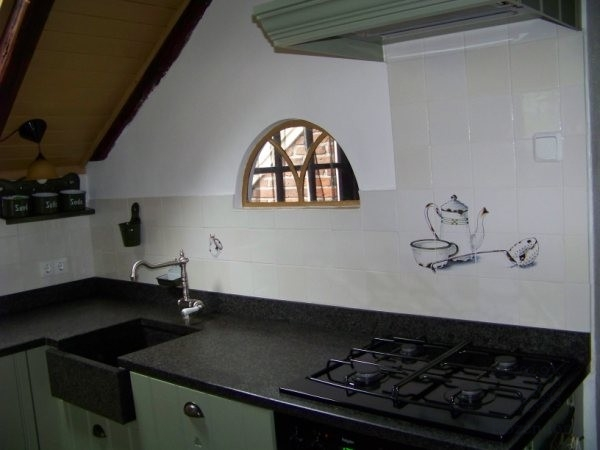 Kitchen with old enamel