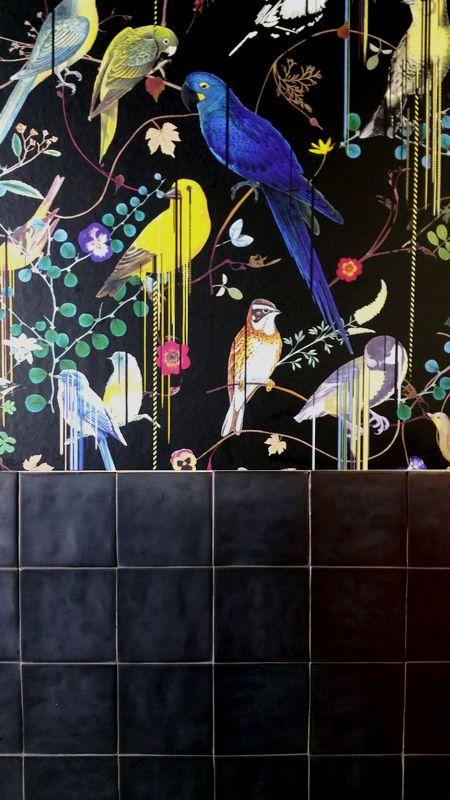 Tiles with lead coloured glaze