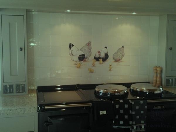 RH24-19-2, Free range chickens on 24 tiles