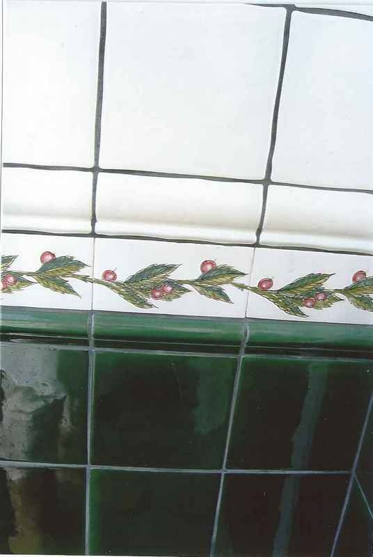 Tiles with special glaze can be used outside