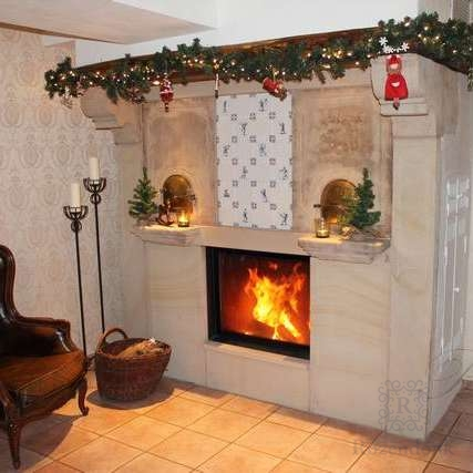An antique fireplace from Westfalen Germany
