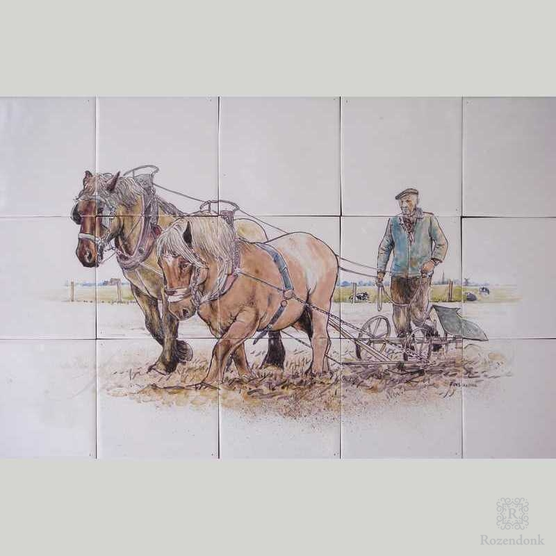 RF15-R, Farmer with plough and horses