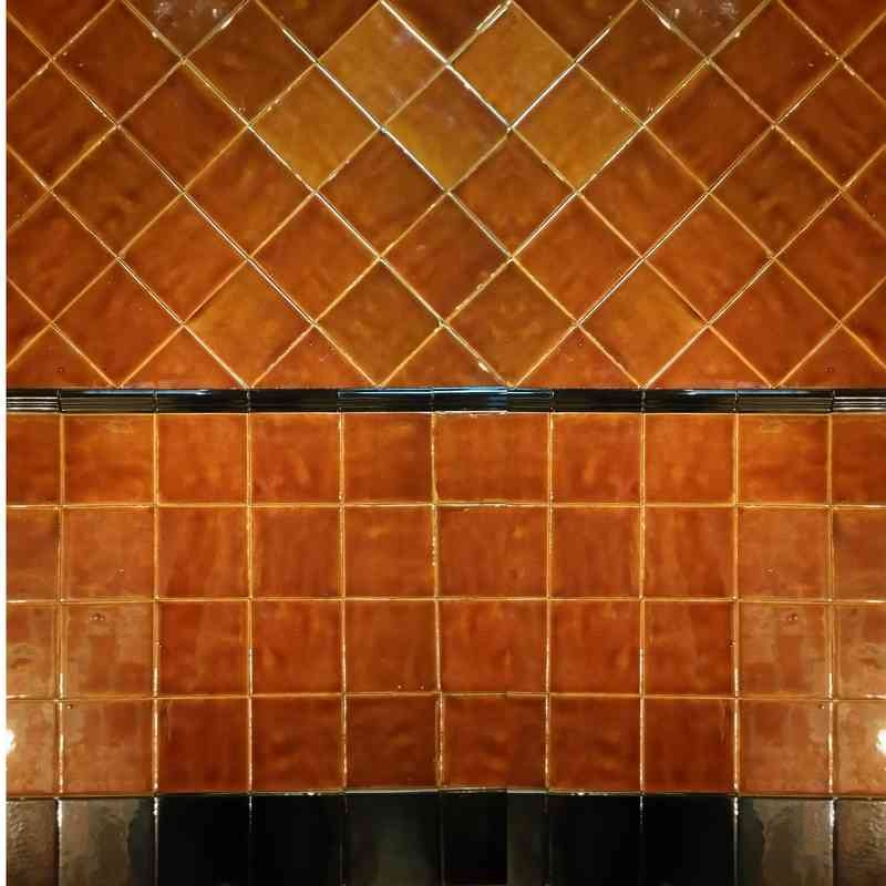 Sample pack retro caramel glazed tiles