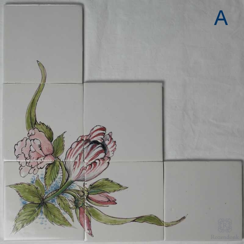 Corner motif with flowers