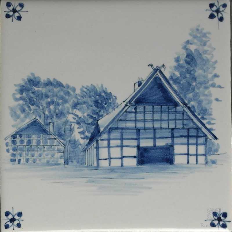 Farm with spider corner motif