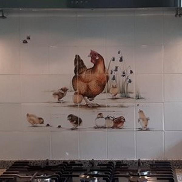 Hen with chicken