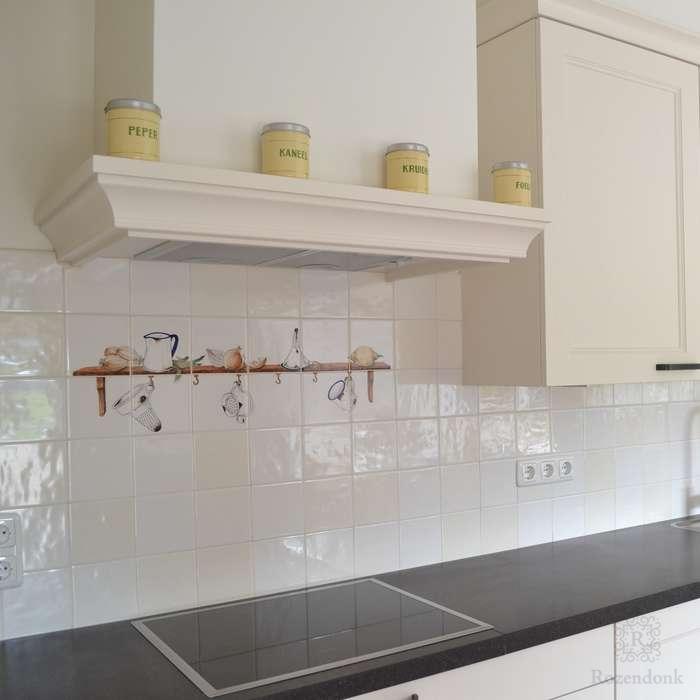 Shelf with kitchen ware