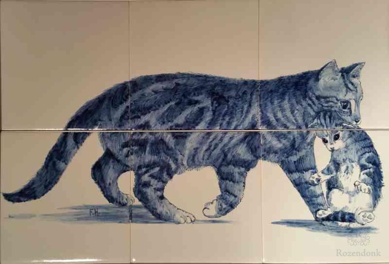 RH6 Cat with kitten