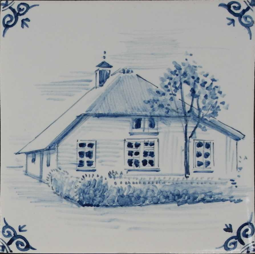 Your home hand painted on tiles