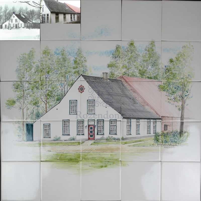 House of grandparents on tiles