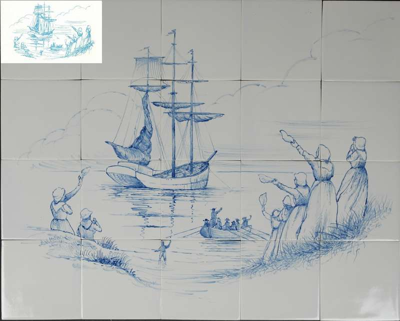 Drawing painted on mural