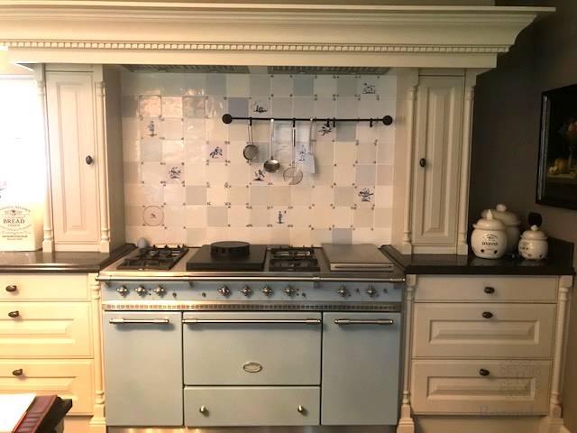 Delft blue above Lacanche stove