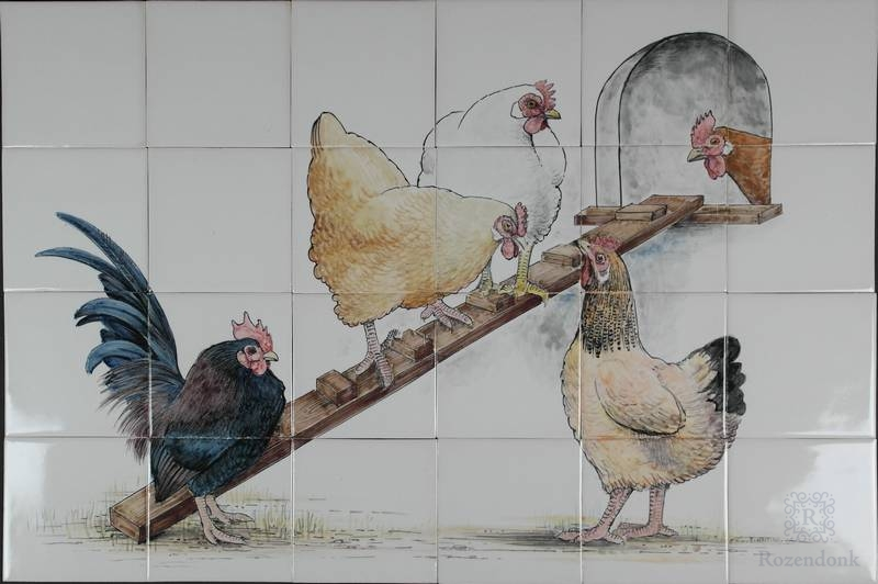 Chicken coop with Konrad and Magda