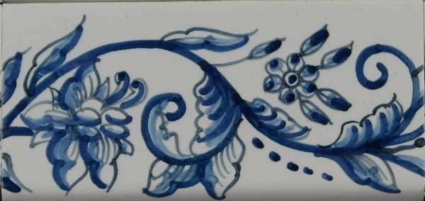 RF0-10, border tile with flowers
