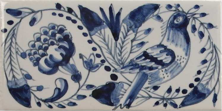 RF0-12 border tiles with birds and flowers