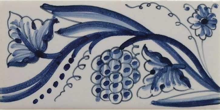 RF0-8, Border tile with grapes