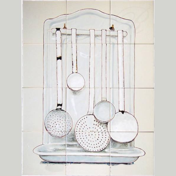 RH12-32 Enamel wall rack