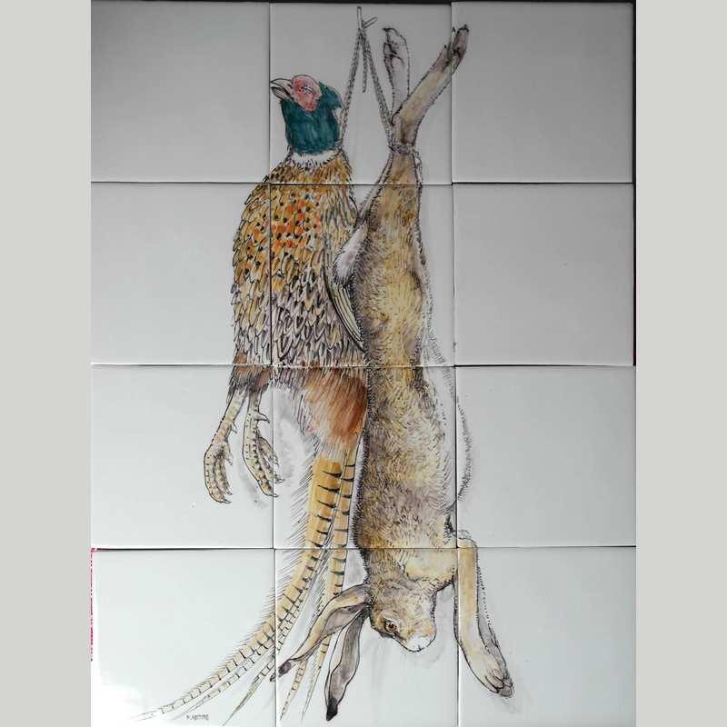 RH12-43 Pheasant and hare