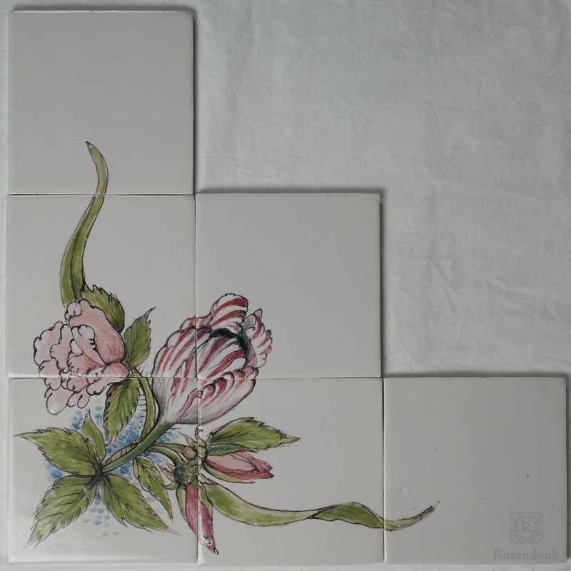 Corner motif with flowers