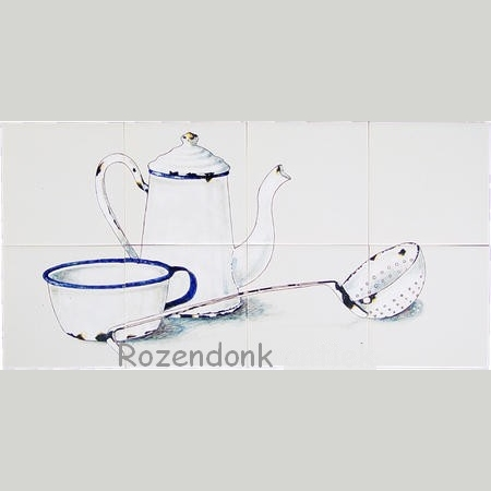 RH8-2 Old enamel kitchenware