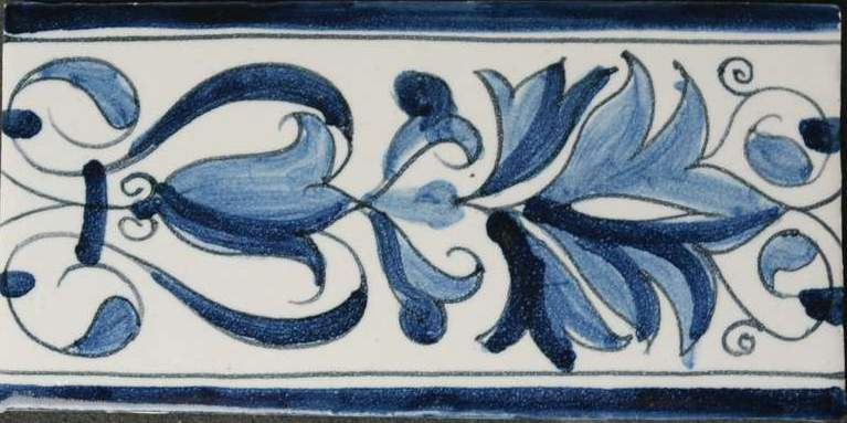 RM0-7, Border tile with styled tulip