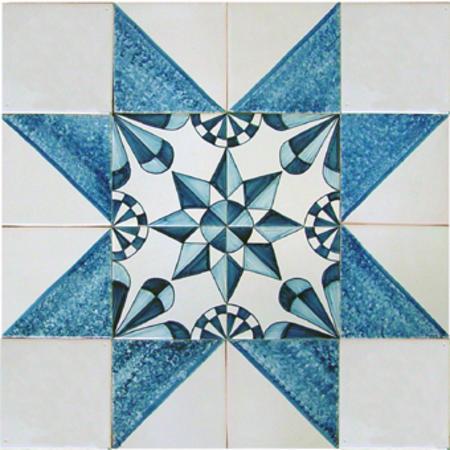 RF-Frisian star on 16 tiles