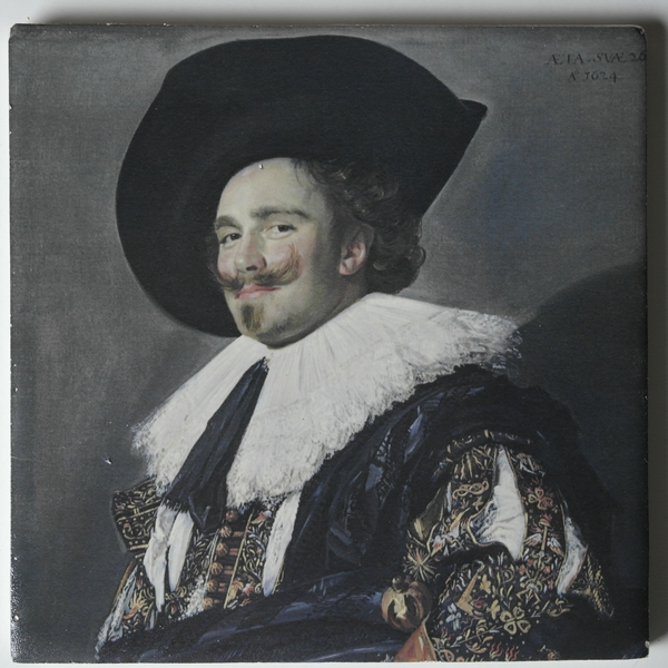 Painting printed on Dutch tiles