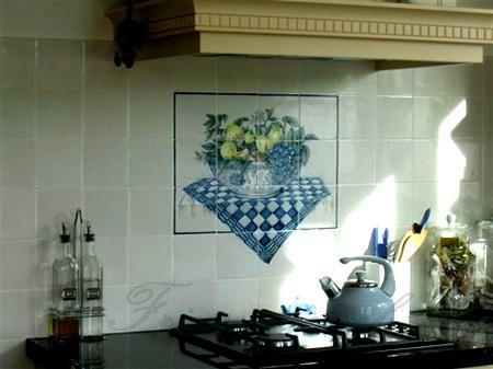Fruit on tiles