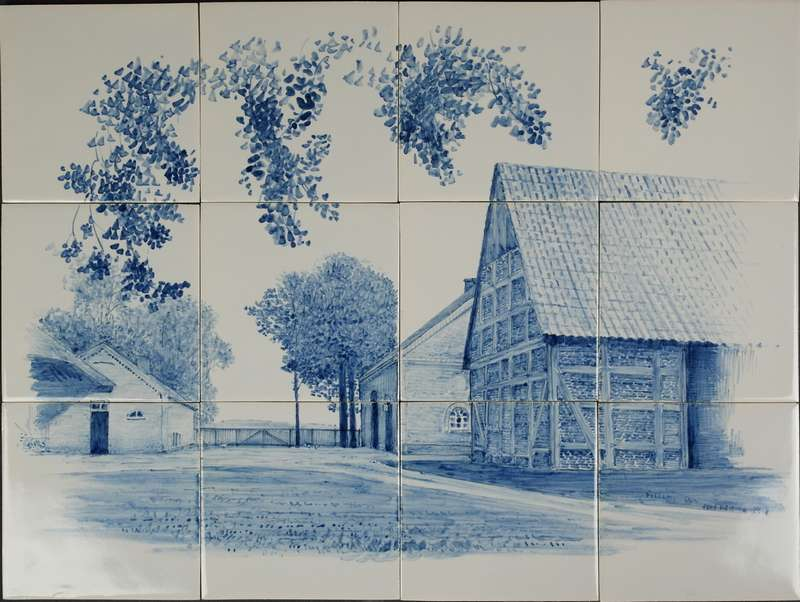 Your house painted on tiles