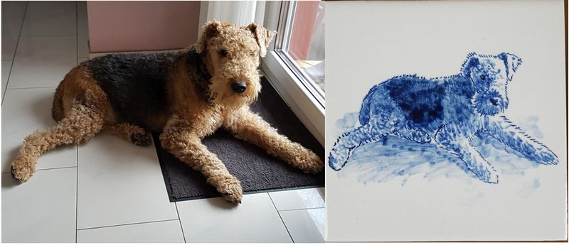 Favourite animal on tiles