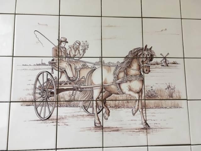 Frisian carriage on 12 tiles