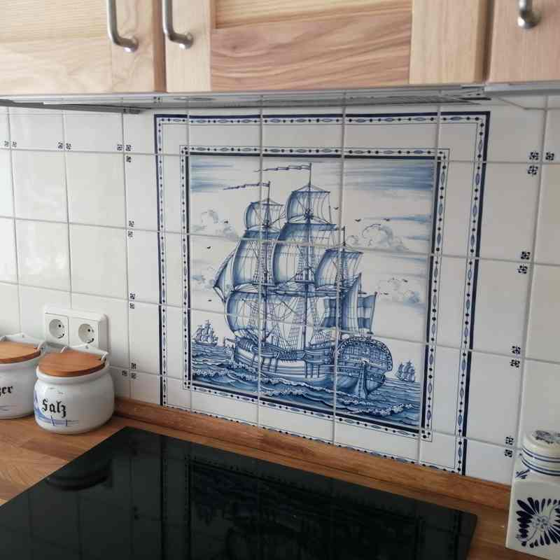 VOC ship on the counter top