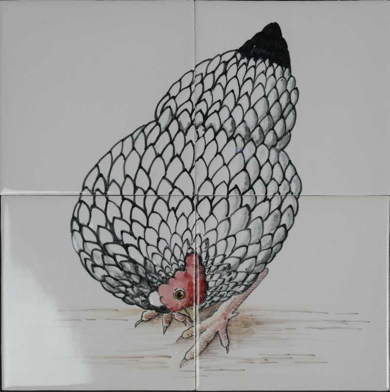 Chicken on 4 tiles