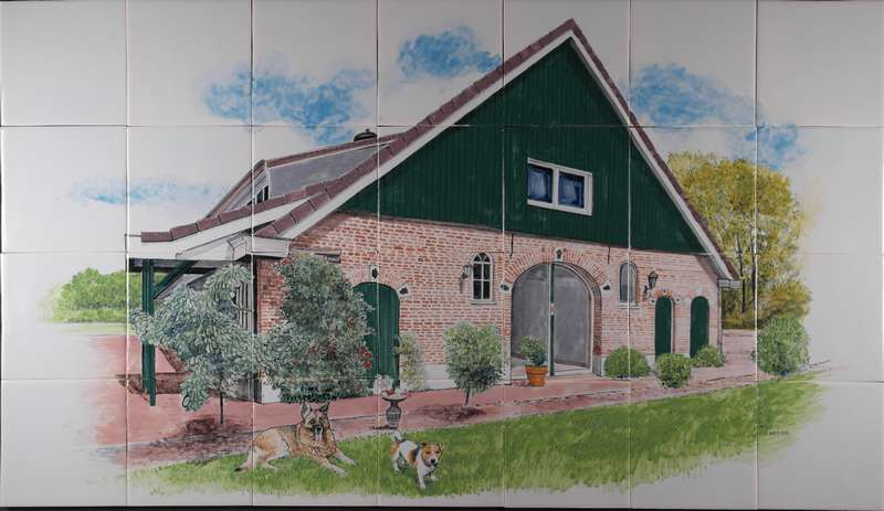 House on 28 tiles