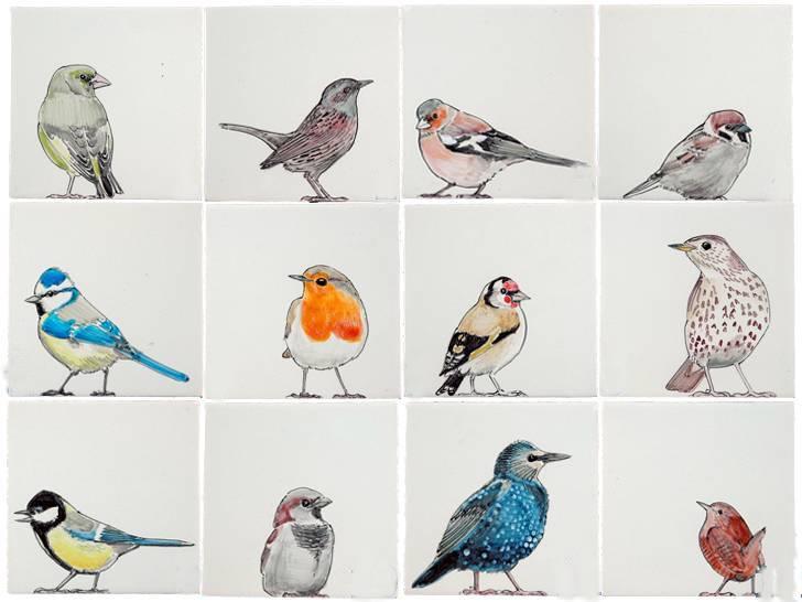 RH1-38 Birds in the garden
