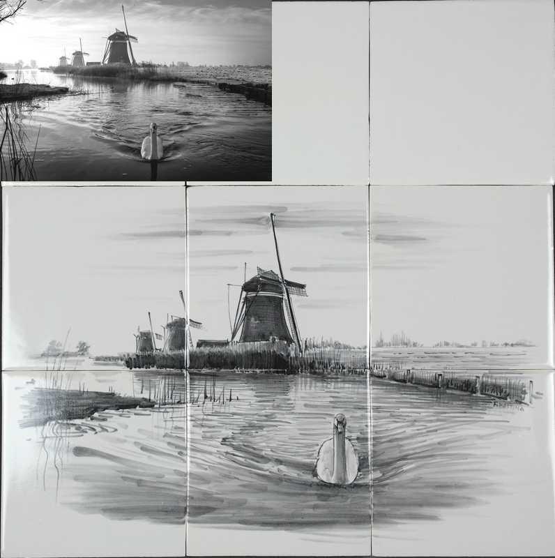 Windmill on tile
