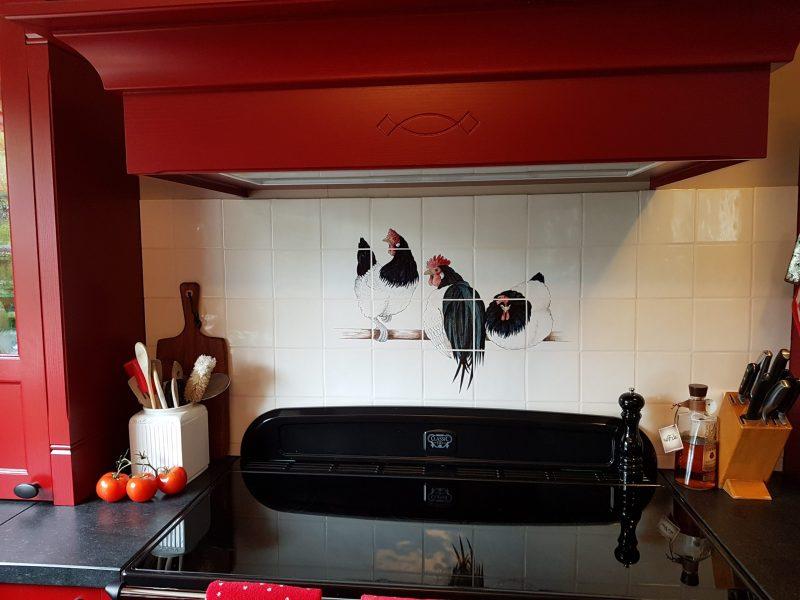 Kitchen with Lakenvelder chicken