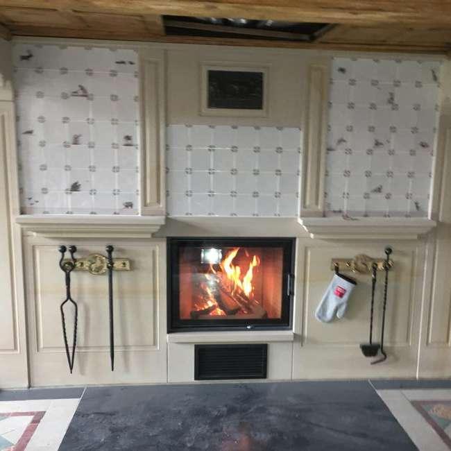 German stove with tiles