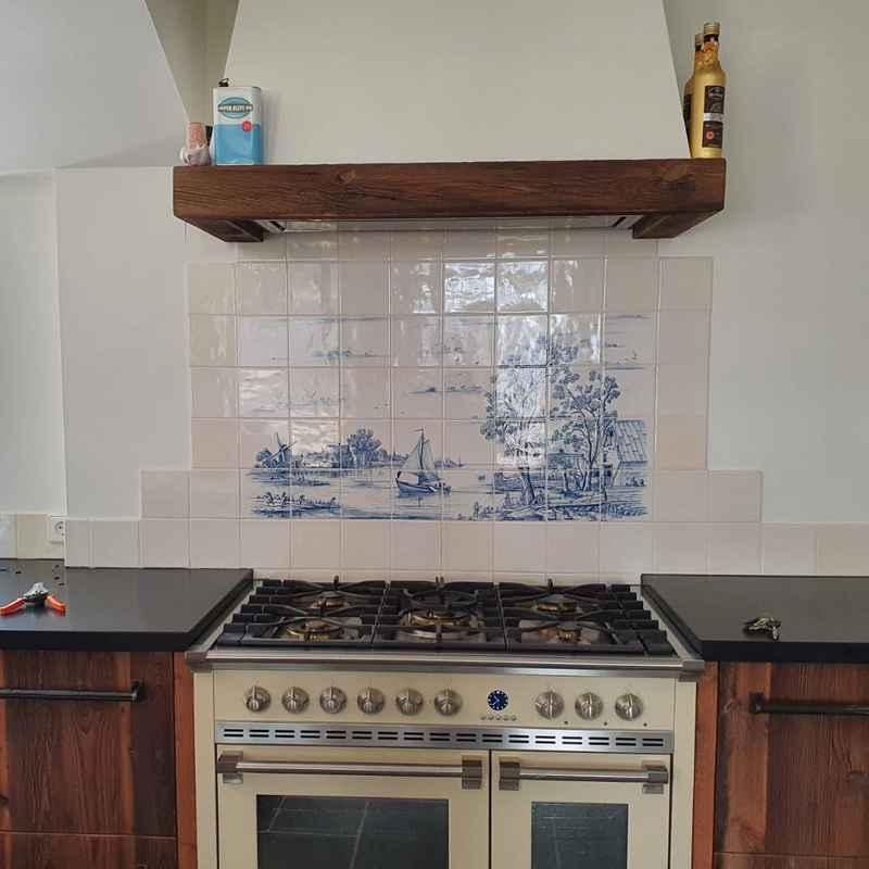 Summerlandscape in the kitchen