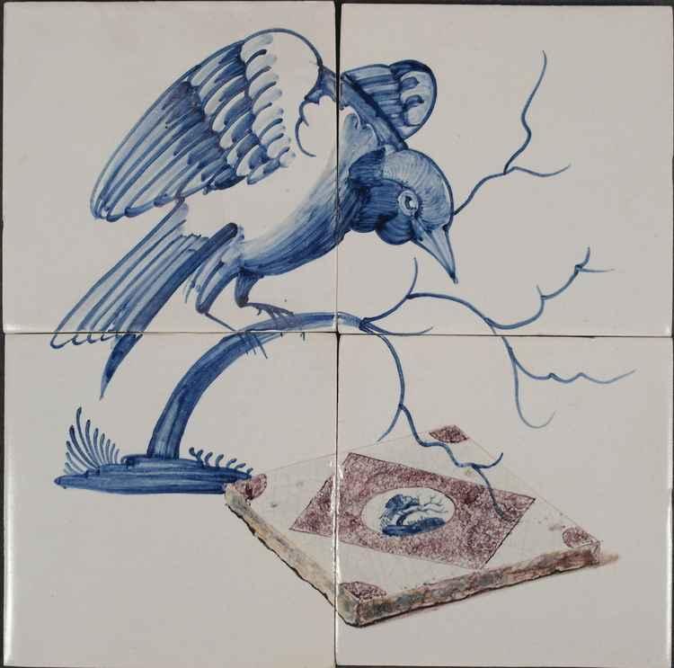 Bird on 4 tiles