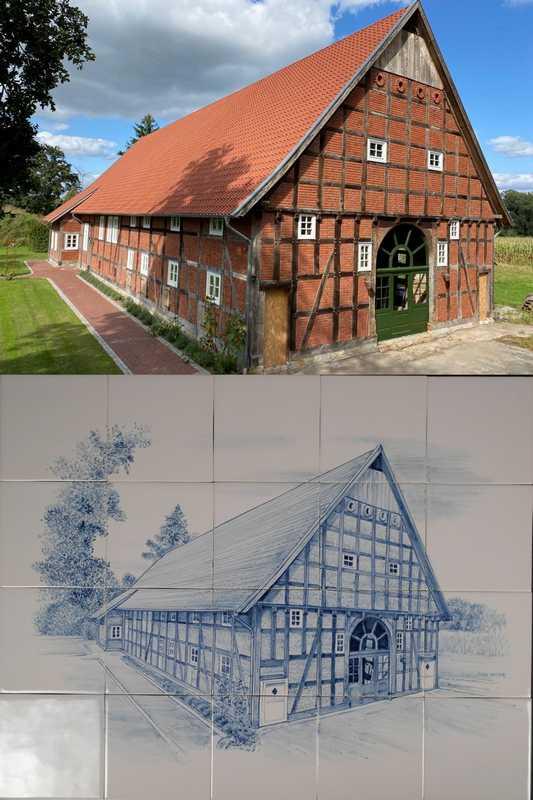German half-timbered farmhouse