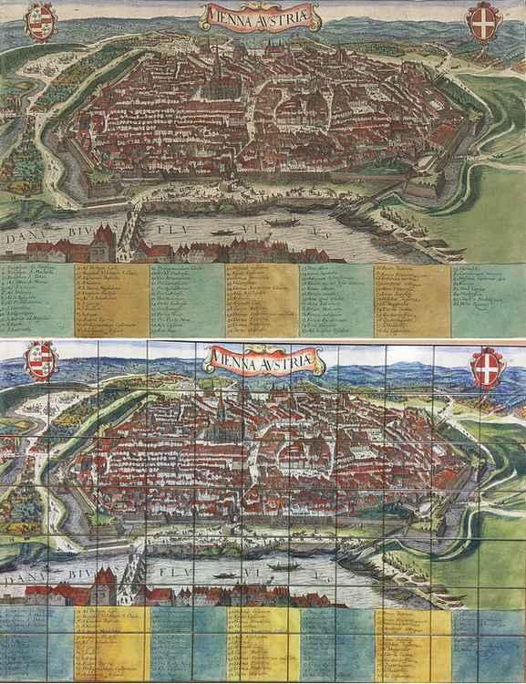 City map of Vienna