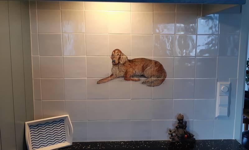The dog on 12 tiles